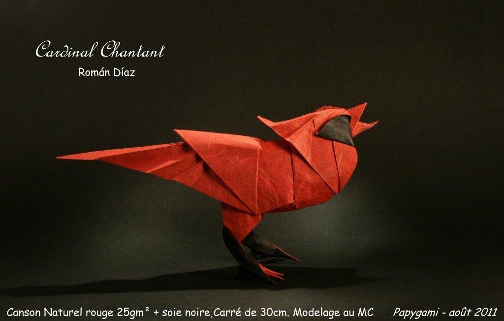 Papercraft Cardinal Folded by Luc Marnat
