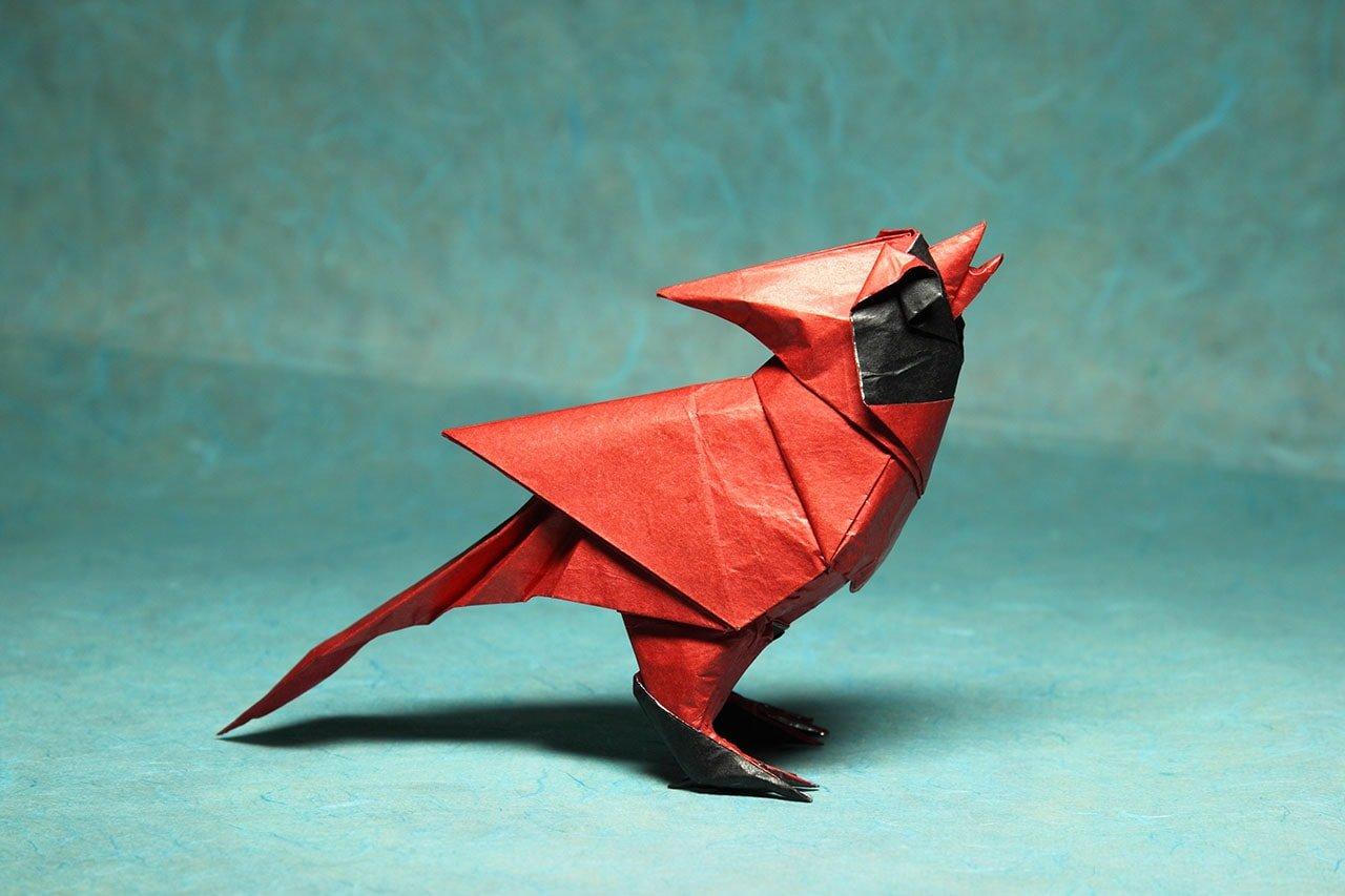 Singing Cardinal by Roman Diaz