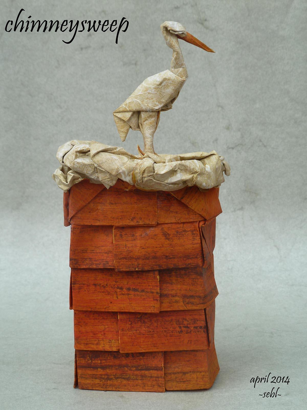 Chimney Sweep Bird by Sebastien Limet