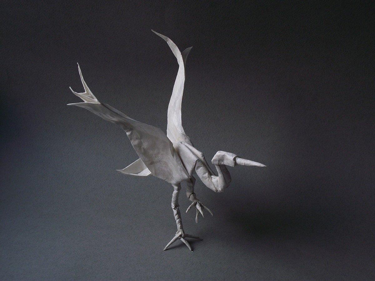 Dancing Crane by Roman Diaz