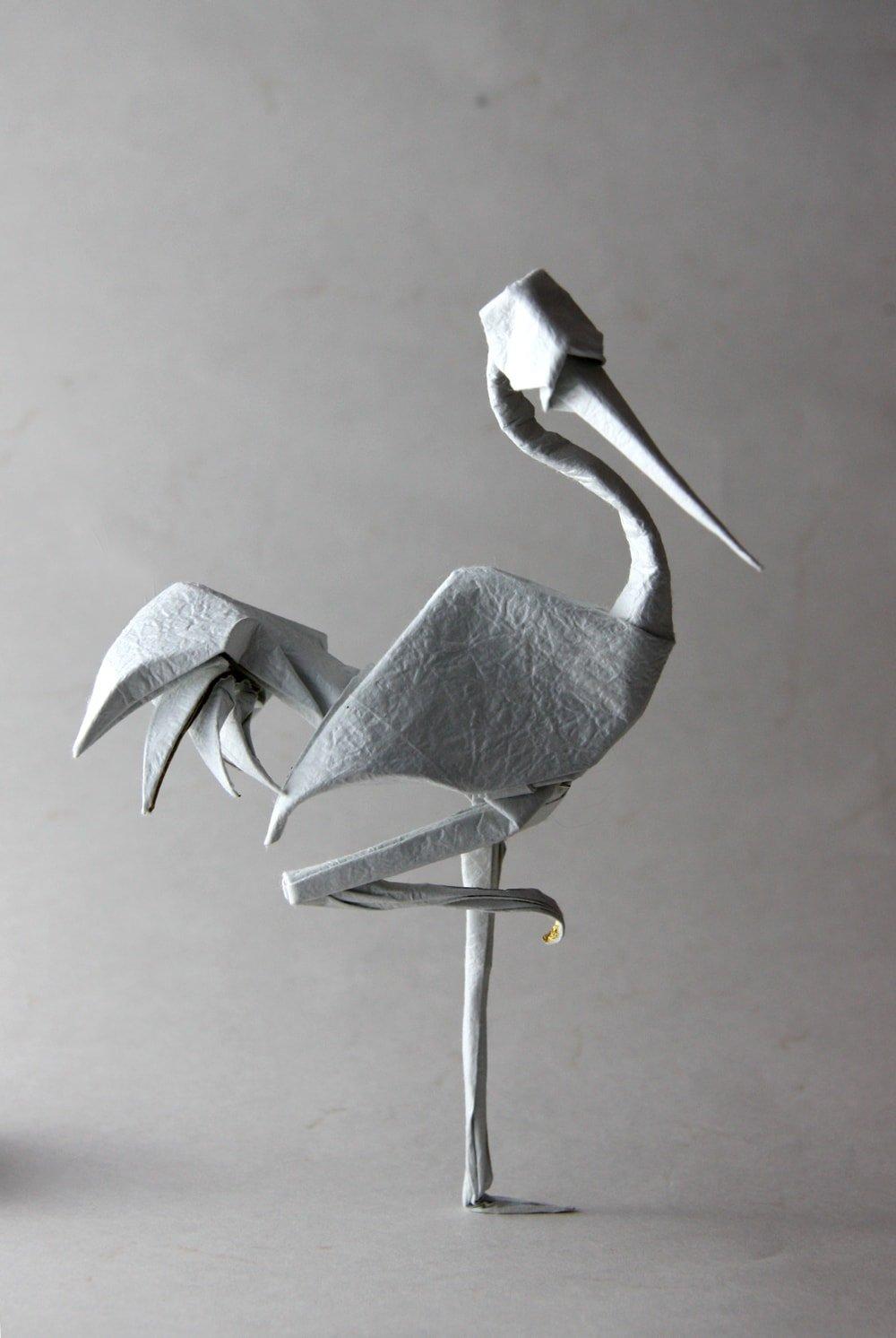 Standing Crane by Terry Nicolas