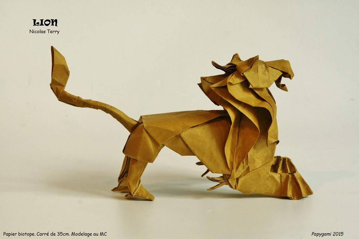 Origami Lion by Nicolas Terry (Leo)