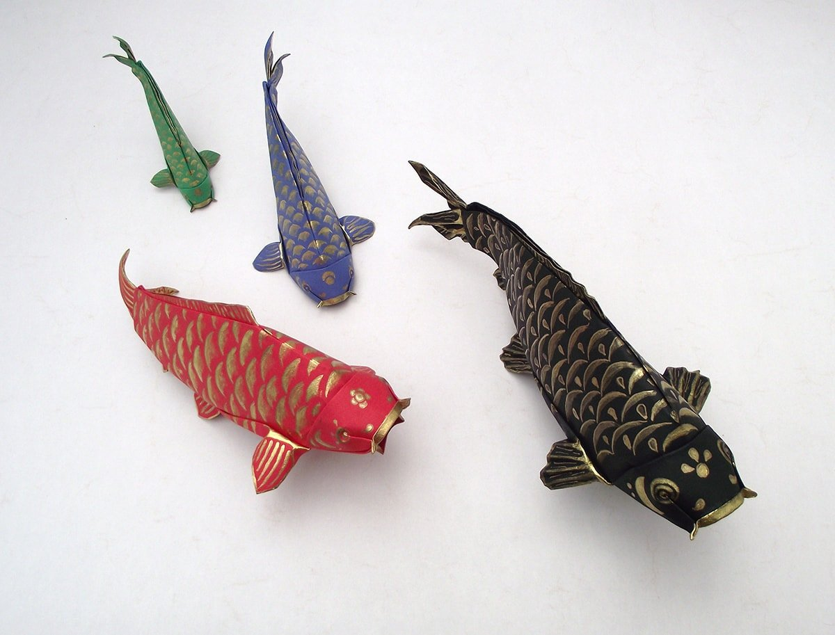 Painted Koi Folded by Edgar Williams