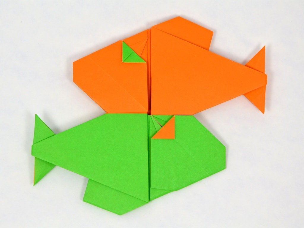 Paper Folded Pisces Fish