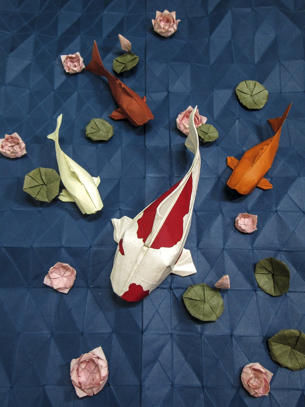 Koi Pond Scene Folded by Le Danh