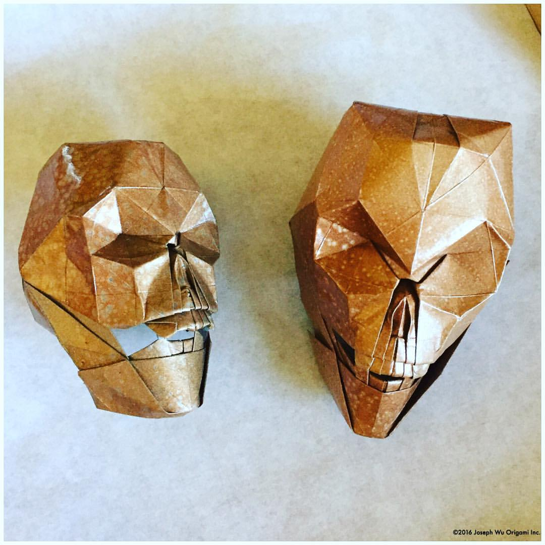 Mottled Copper Skulls by Joseph Wu