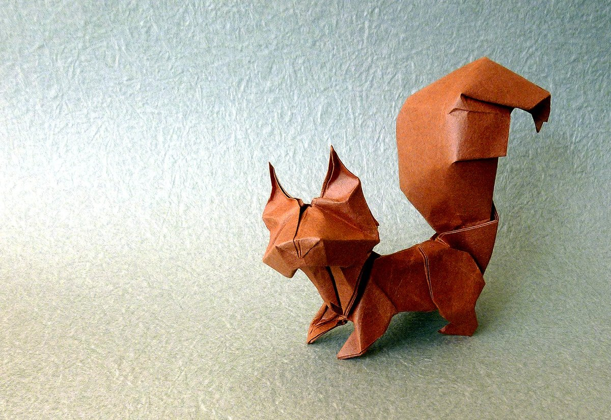Squirrel Folded by Terry Nicolas