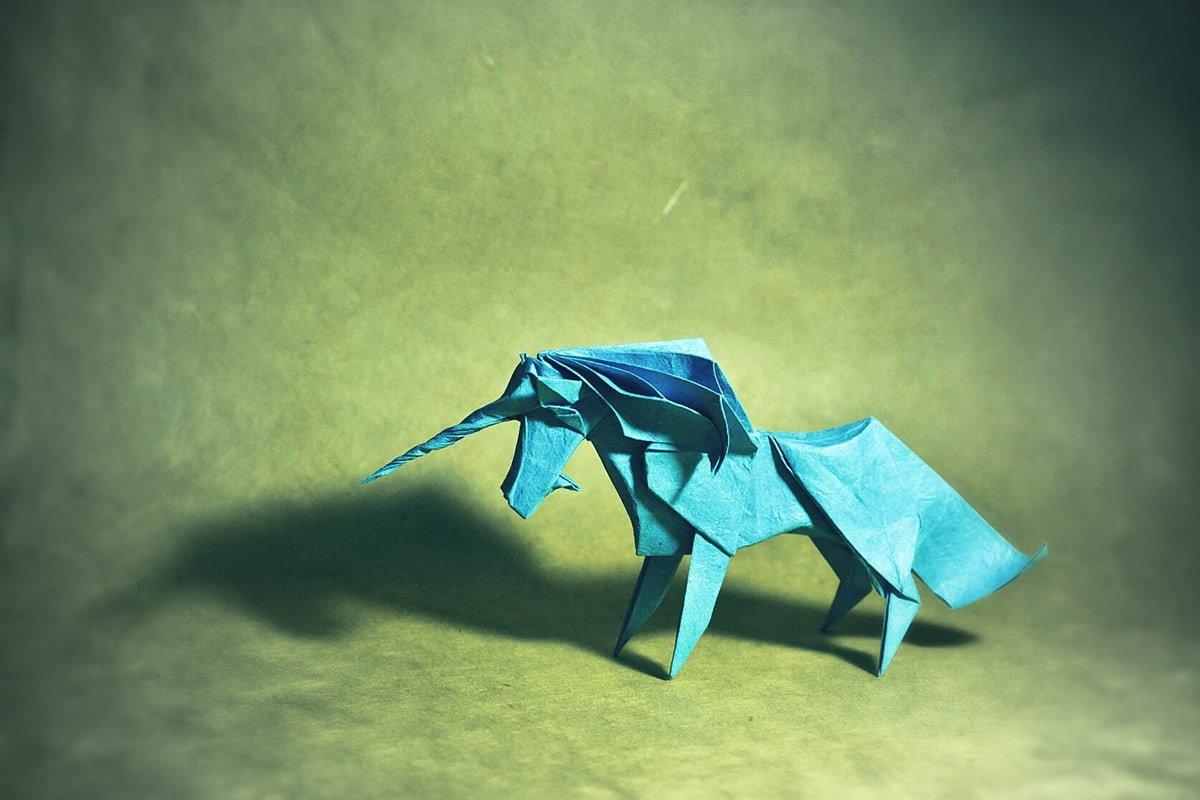Paper Unicorn Folded by Gonzalo