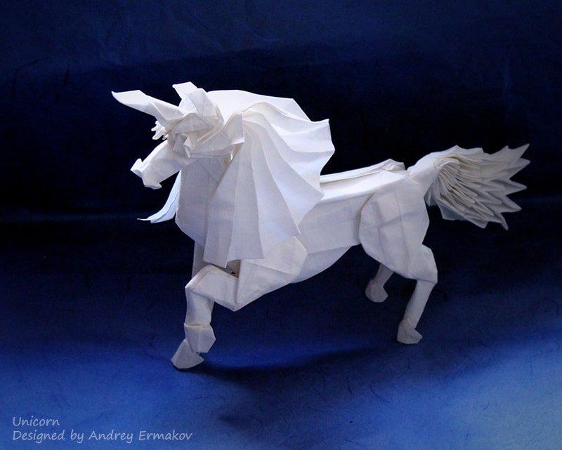 Unicorn Designed and Folded by Andrey Ermakov