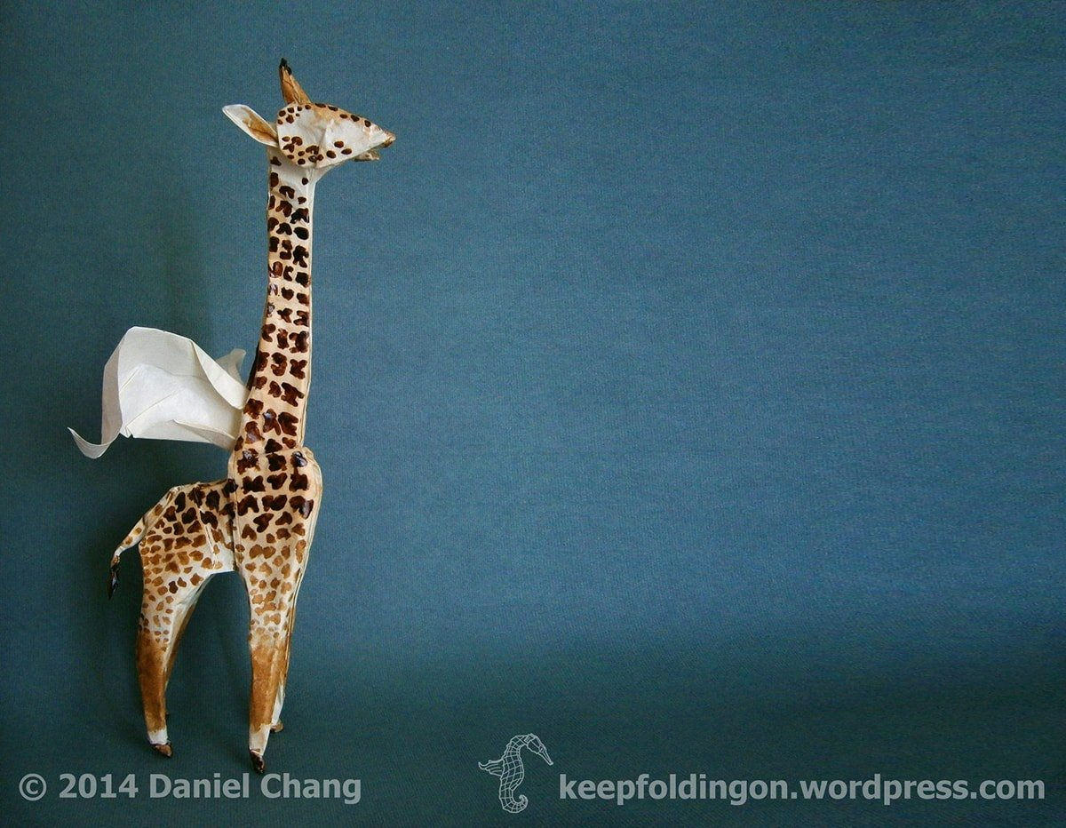Winged Coffee Giraffe by Daniel Chang