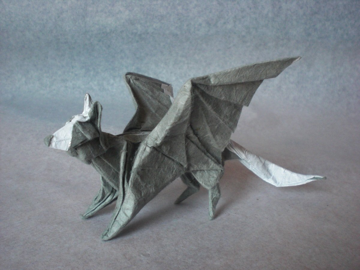 Paper Wolf with Wings