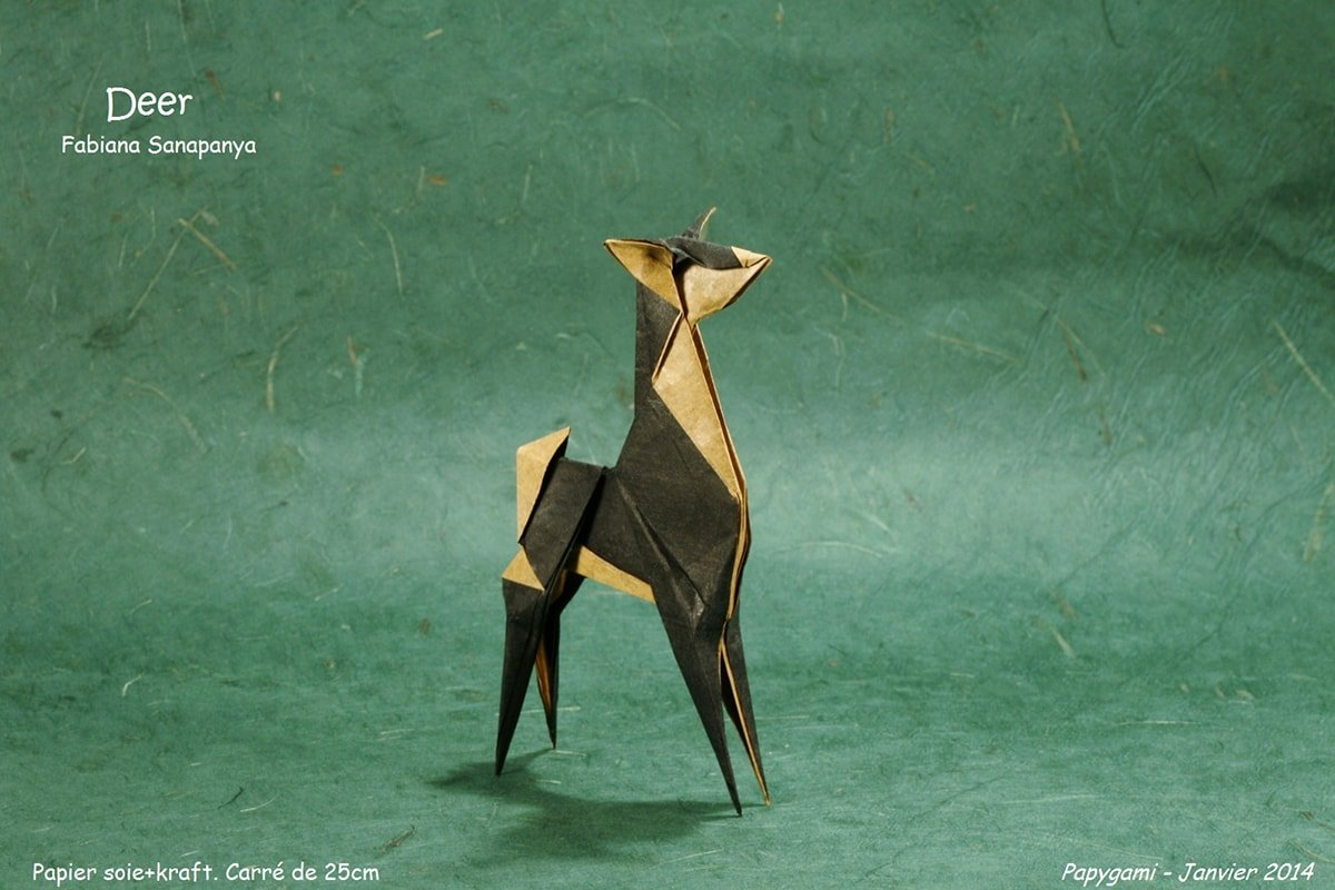 Deer Folded by Luc Marnat