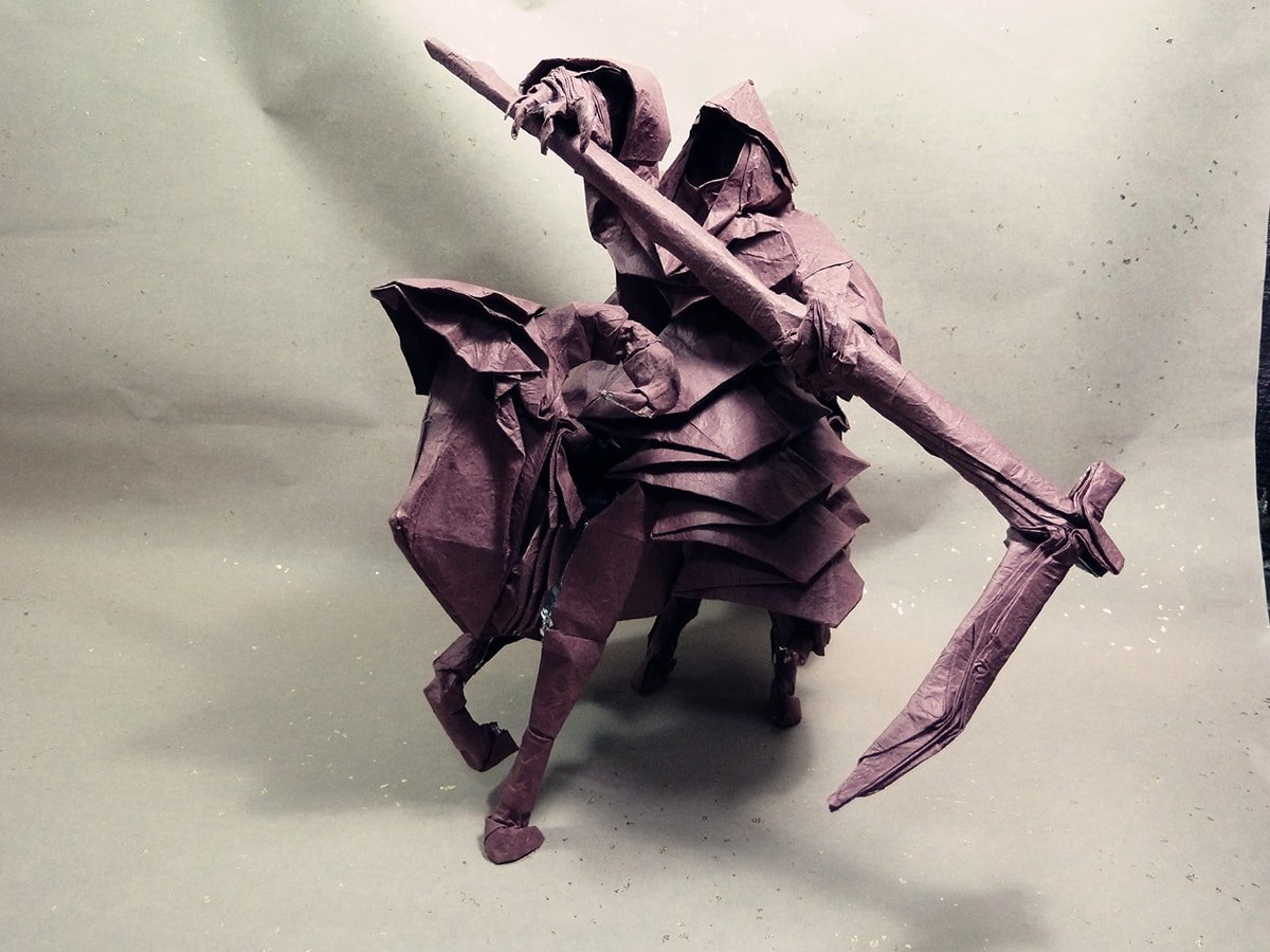 Grim Reaper on Horse Papercraft
