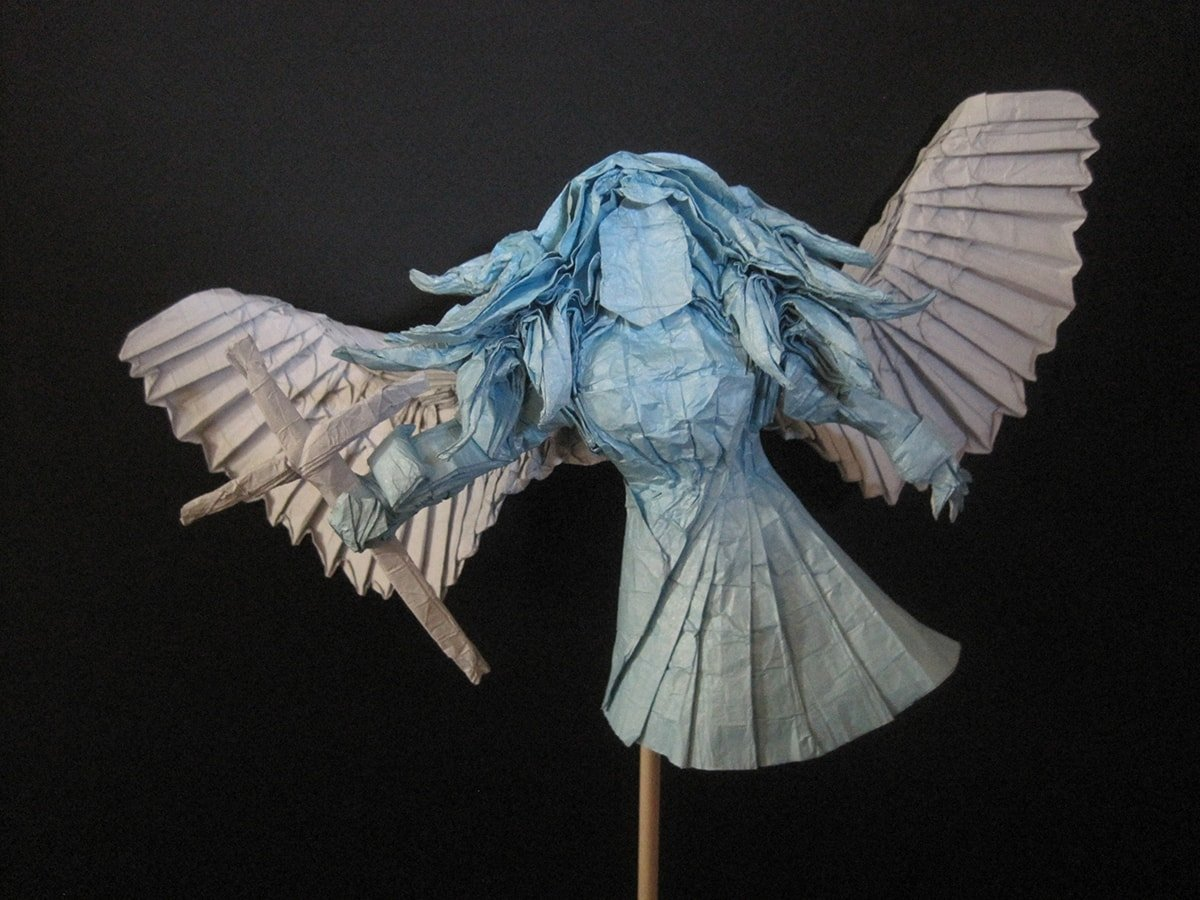 25 amazing origami angels to harp on about