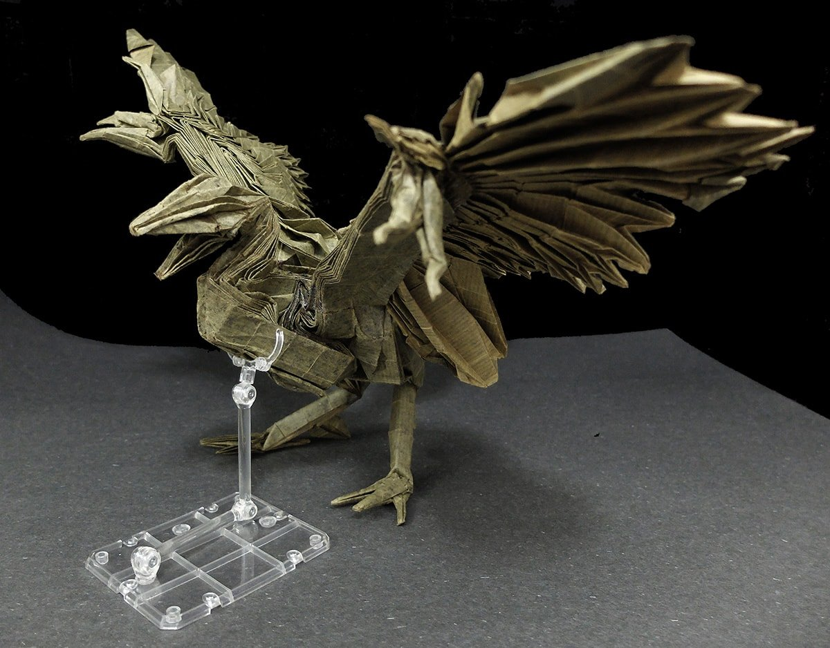 Paper Folded Archaeopteryx