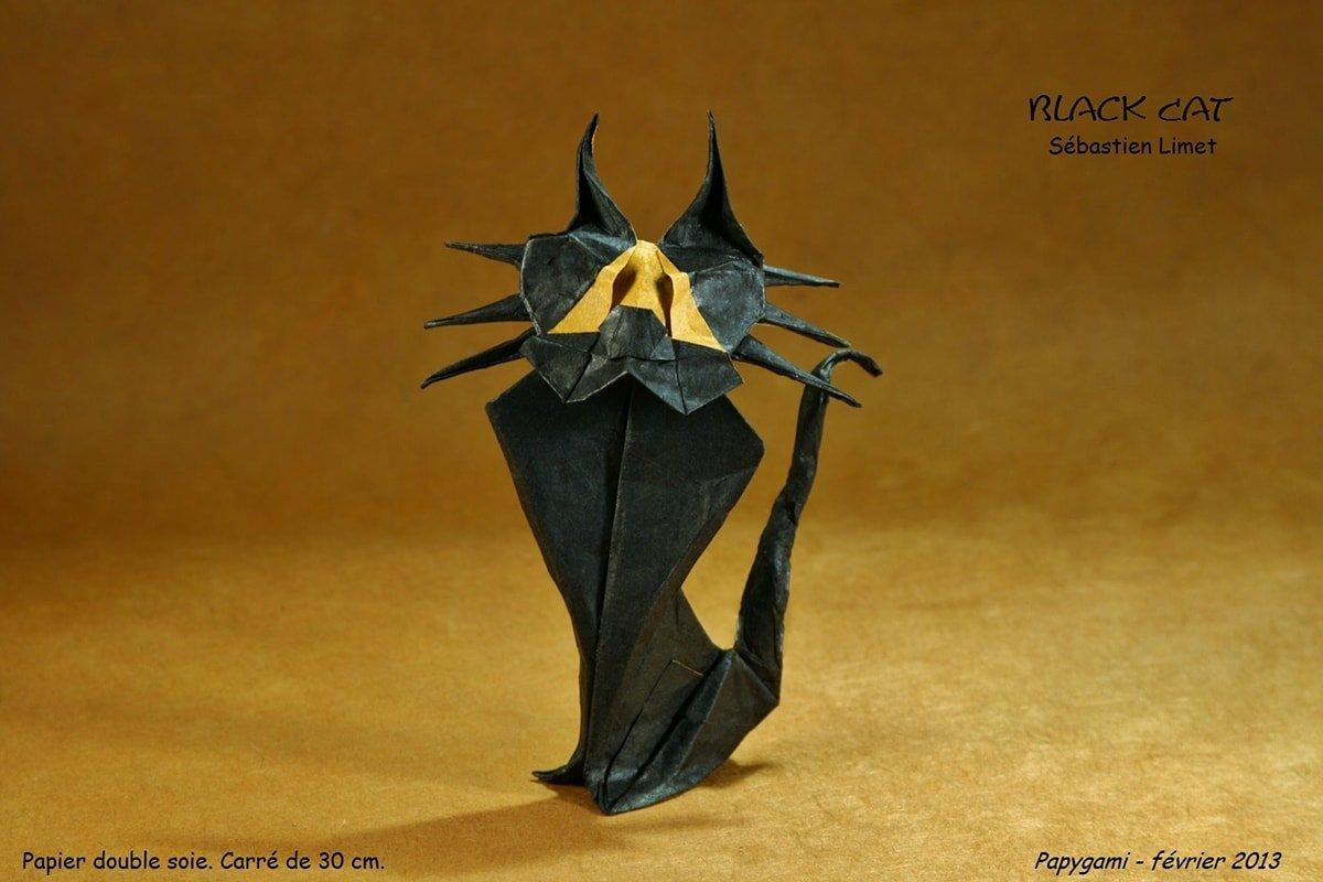 Cartoonish Looking Black Cat