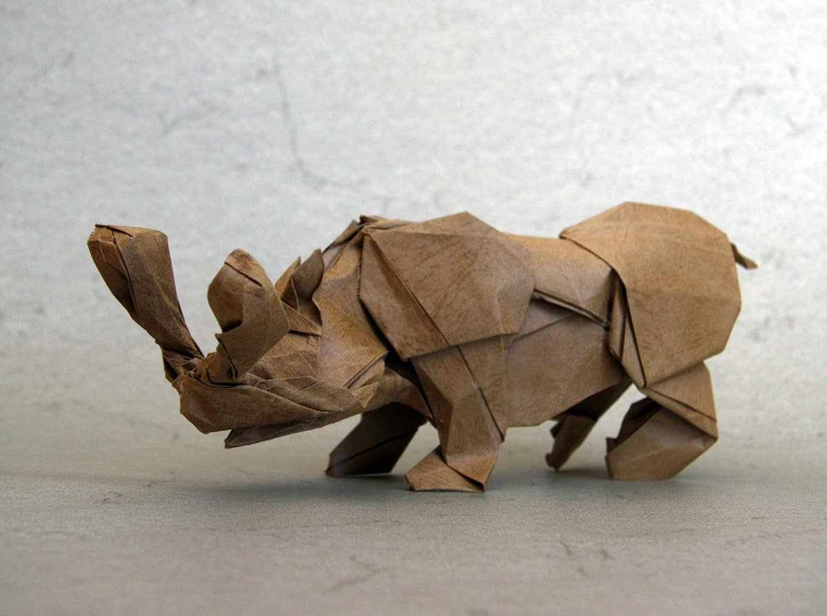 Brontotherium Folded by Terry Nicolas