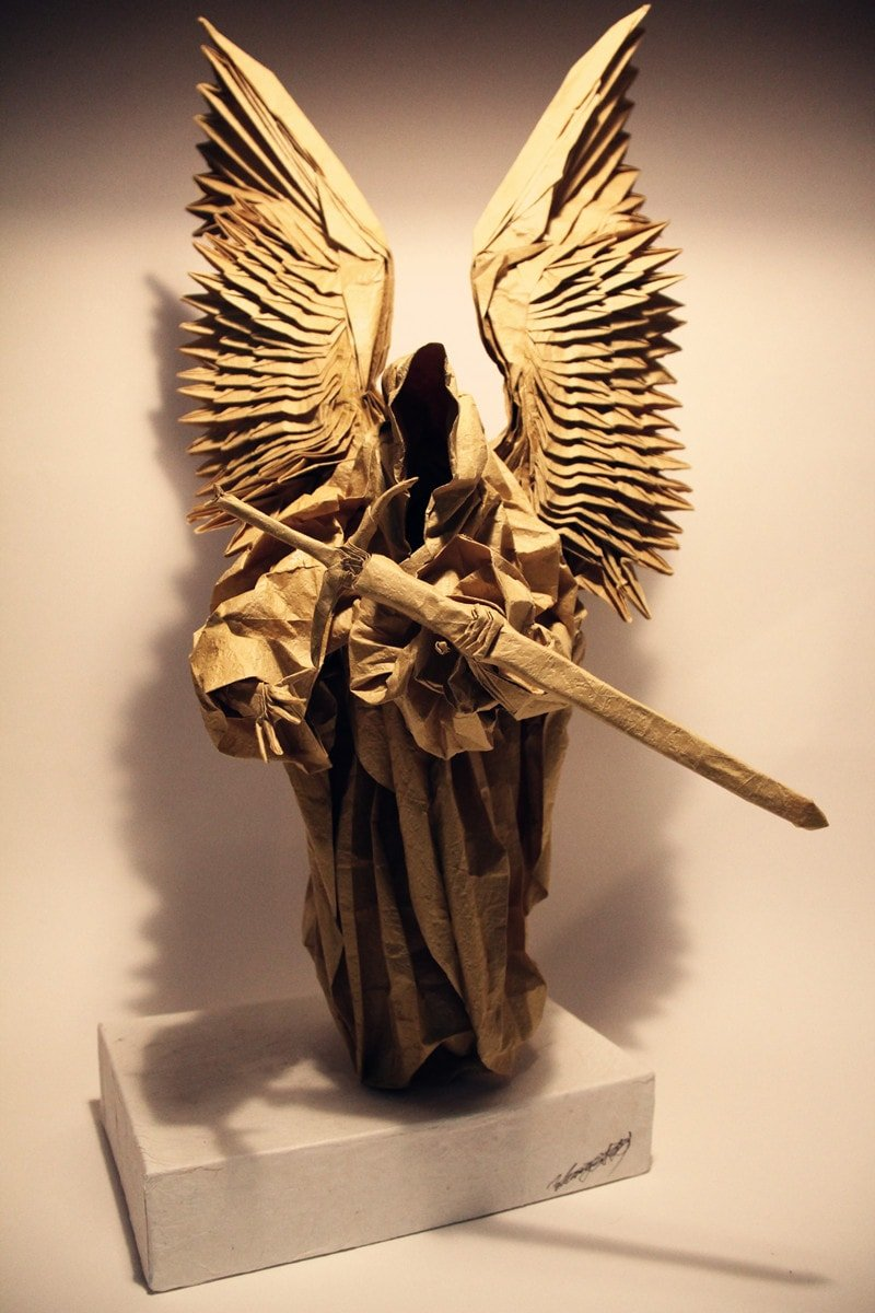 Evil Paper Angel with Sword and Hood