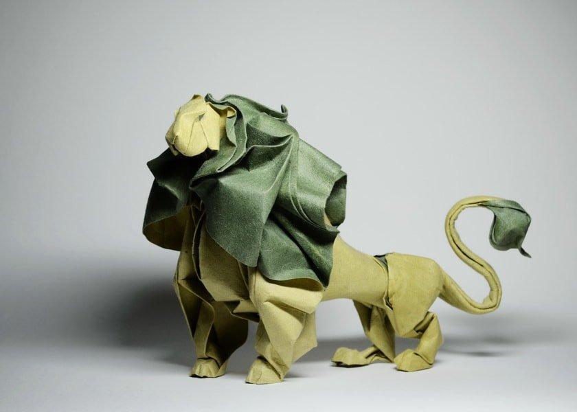 Beautiful Paper Lion