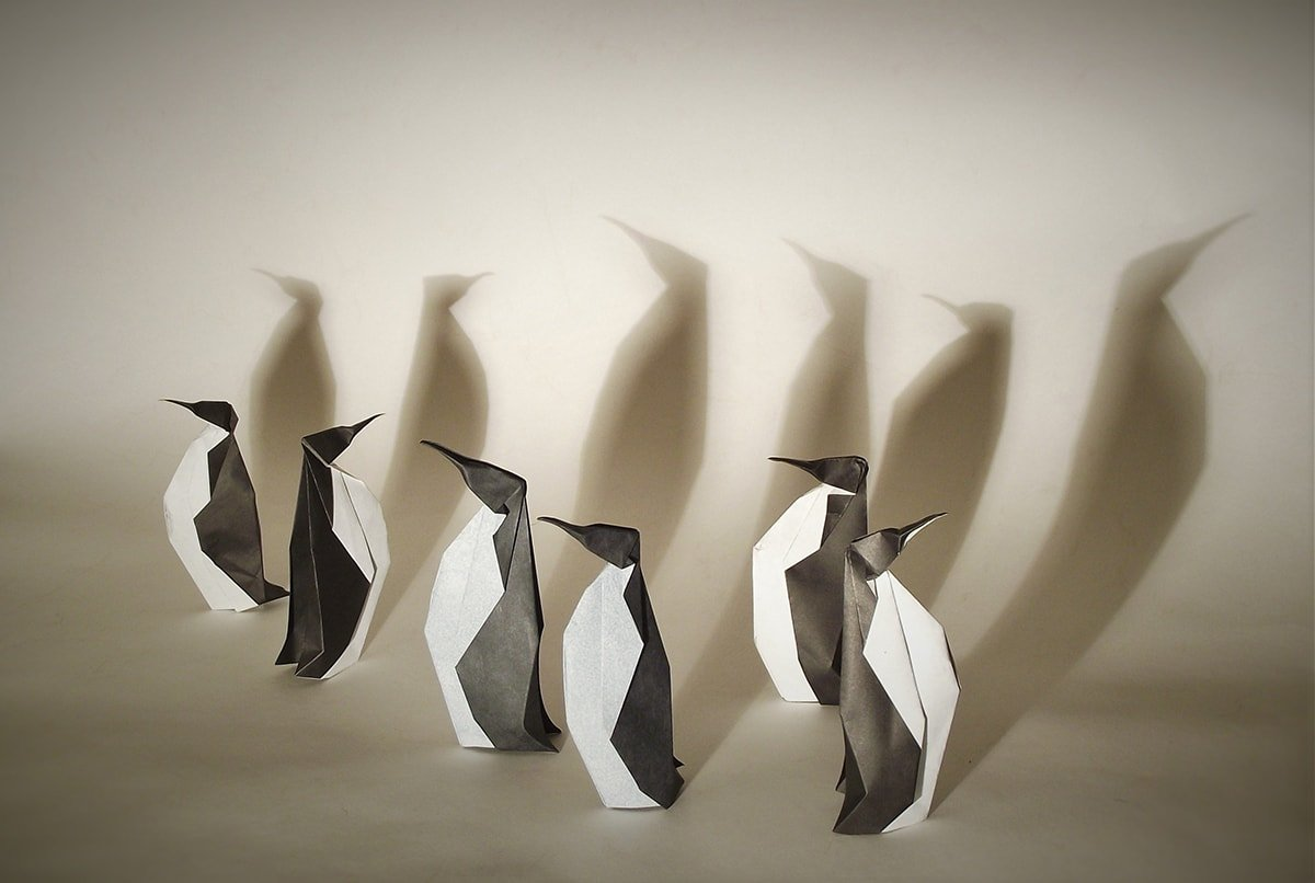 Penguins, Designed and Folded by Edgar