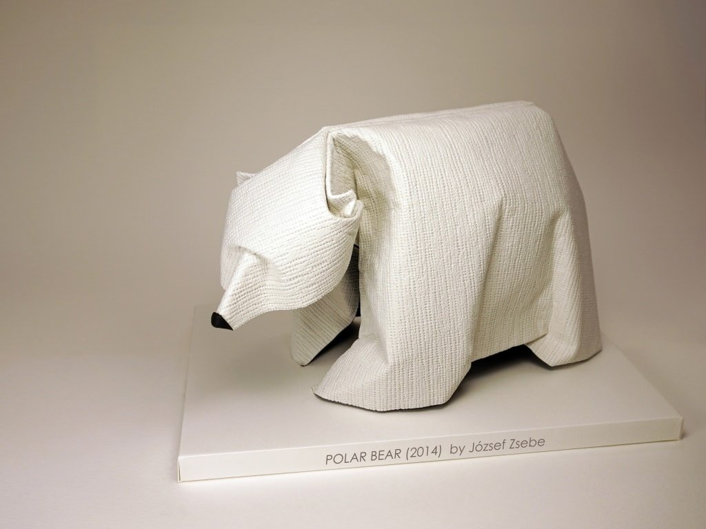 How to Make Origami Bear - Origami Polar Bear Easy Origami Animals ... | 768x1024