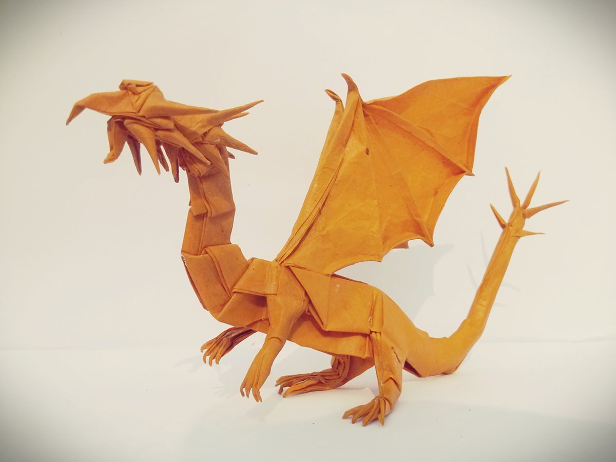 Papercraft Western Dragon