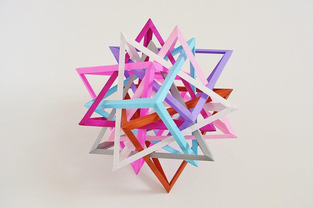 Eight Interlocking Tetrahedra #4 (Byriah Loper)