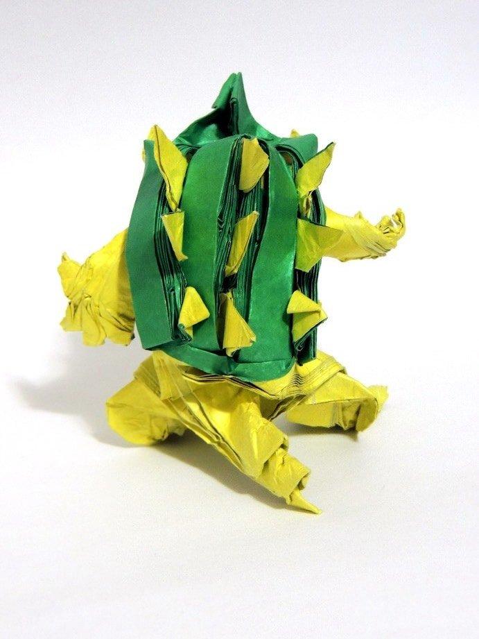 Origami Bowser Back