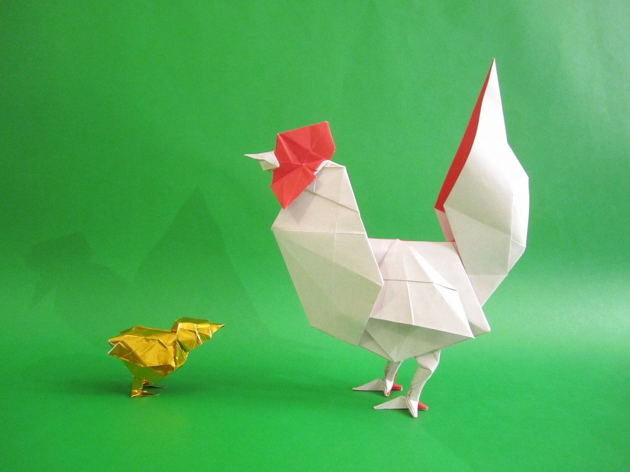 Origami Chicken and Chick