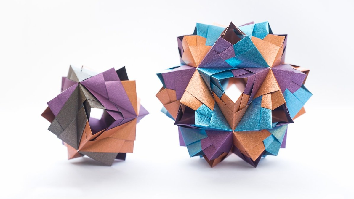 Easy Origami Kusudama Flower | Easy origami flower, Origami easy ... | 672x1195