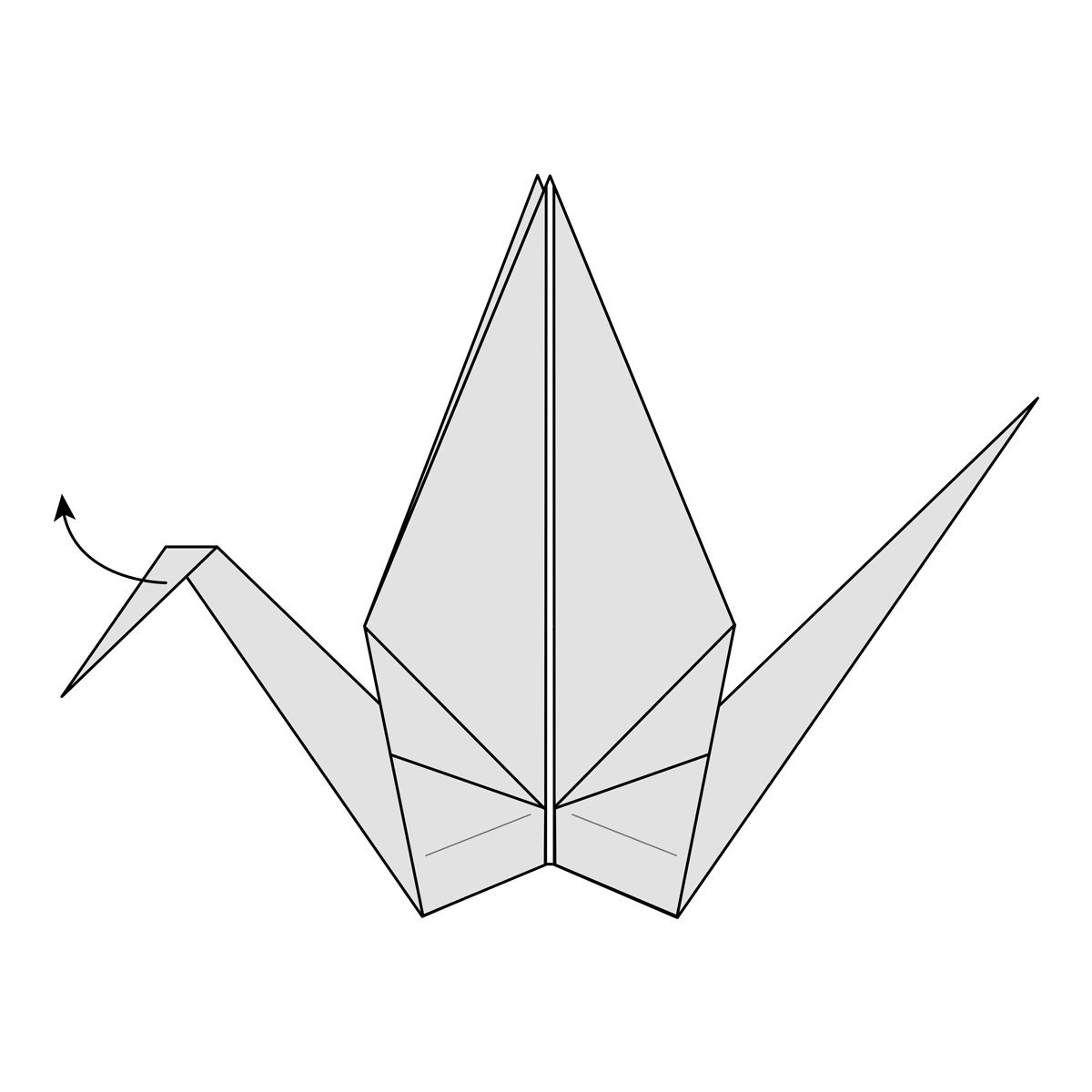 Easy Origami Crane Instructions | 1200x1200
