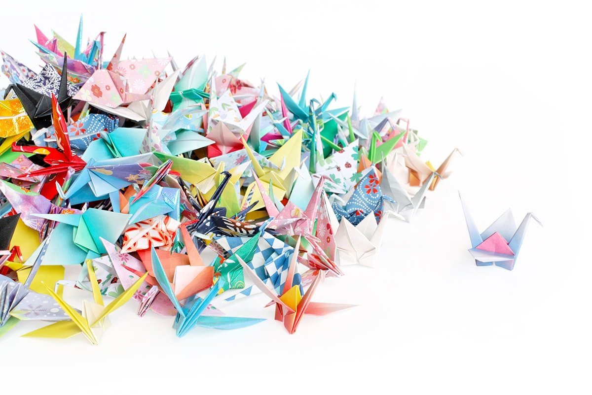 Origami Cranes | International Crane Foundation | 802x1200
