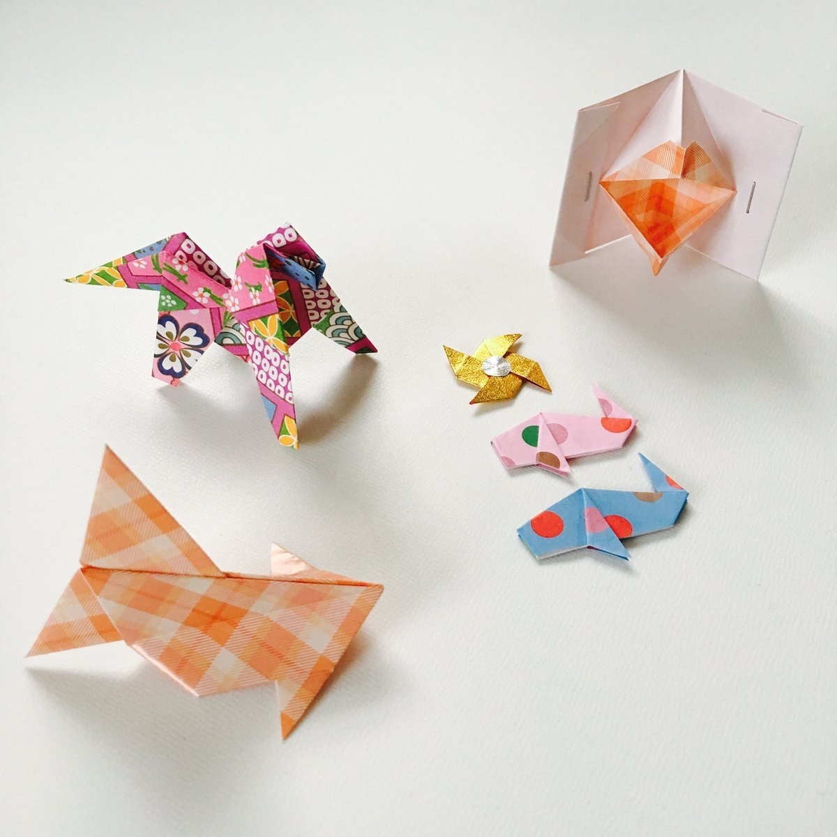 Origami Models from Vending Machine
