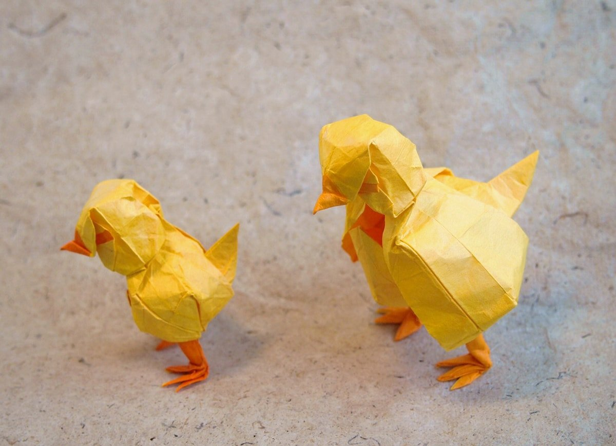 Muumade - Origami Roosters and Chickens for the New Year | 868x1200