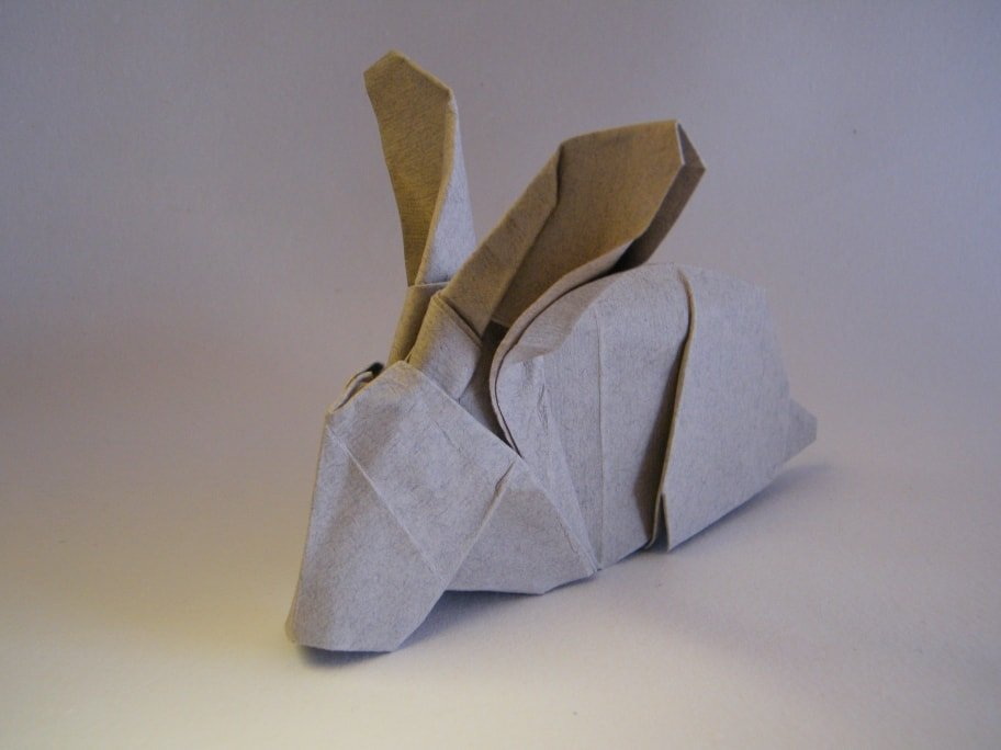 Rabbit Folded out of Paper
