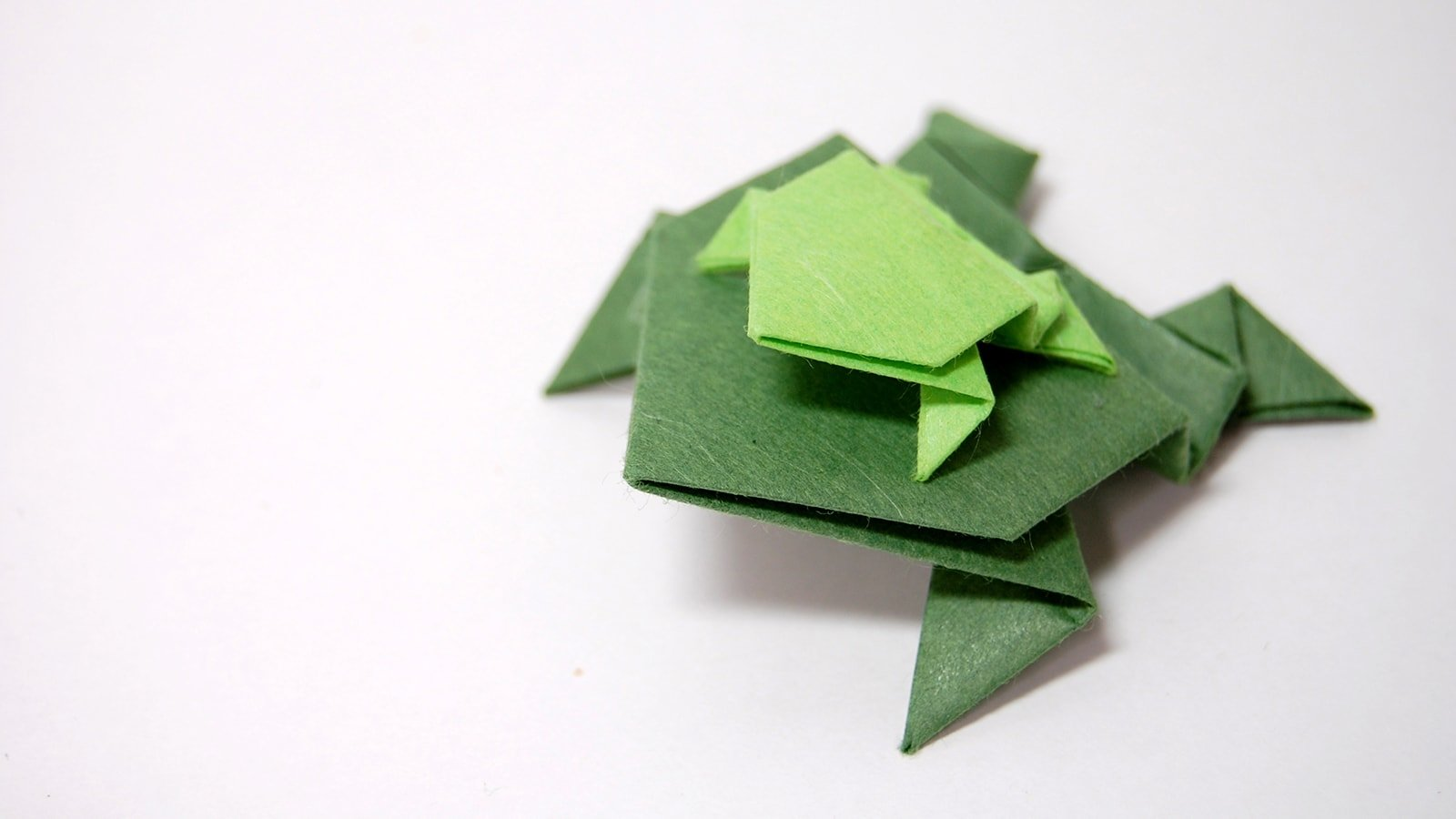 How to Fold an Easy Origami Jumping Frog - Traditional ... - photo#27
