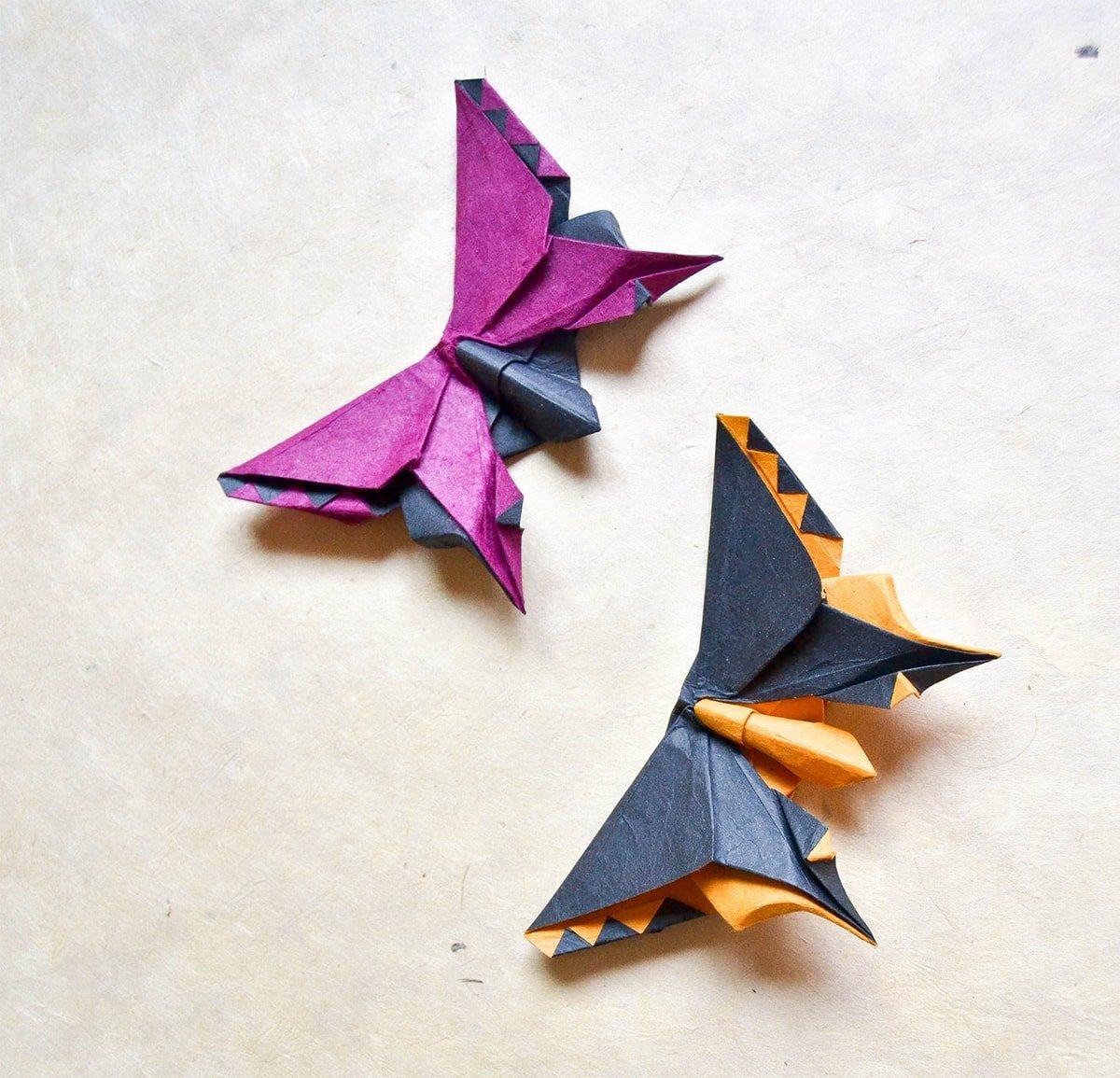 2 Origami Butterflies