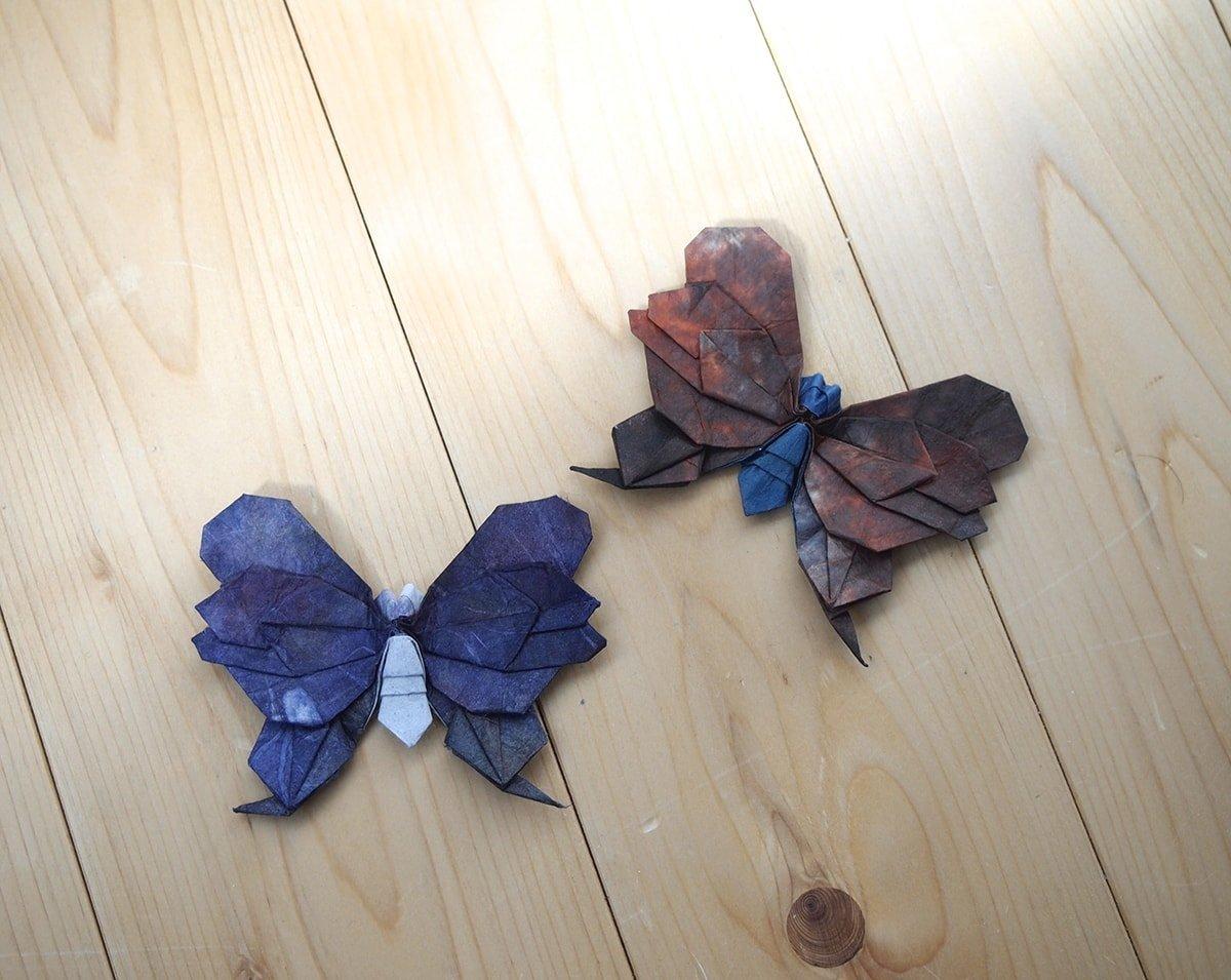 Two Butterflies folded by Hiroaki Kobayashi