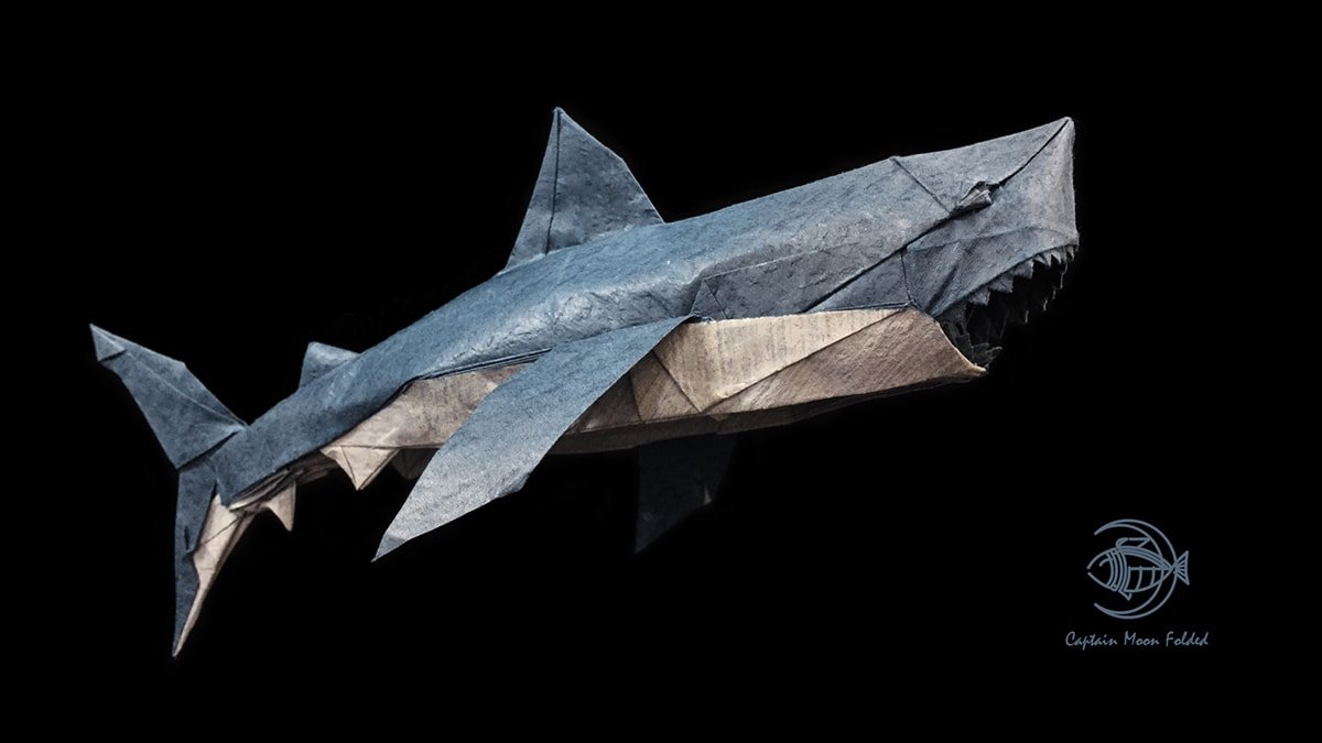 Great White Shark Folded by CaptainMoon