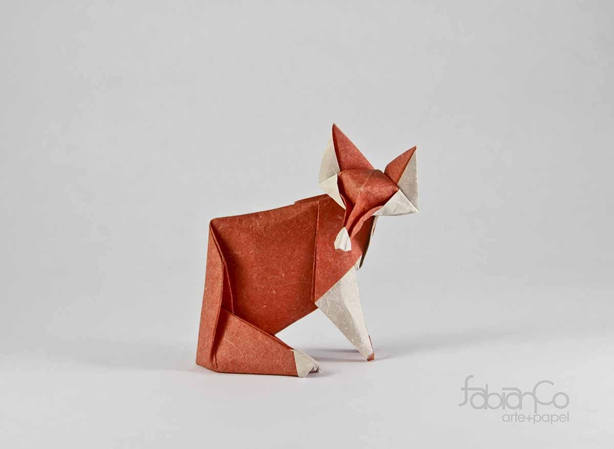 Origami Fox by Fabian Correa
