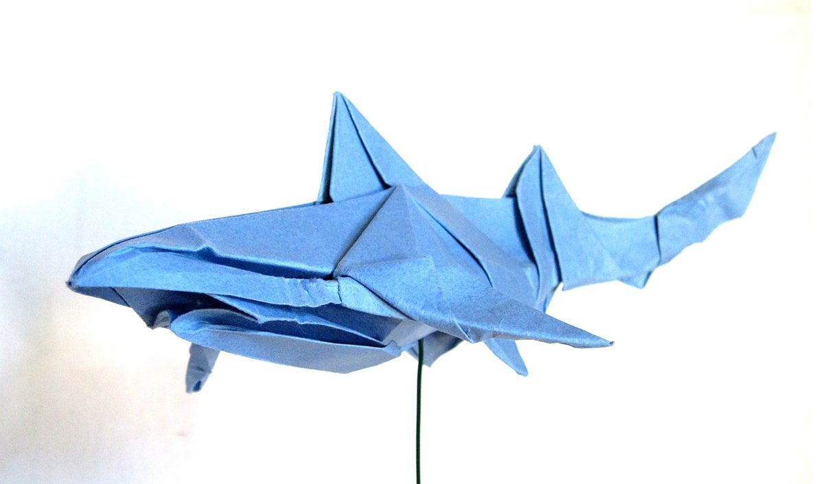 Blue Shark Papercraft by Winston