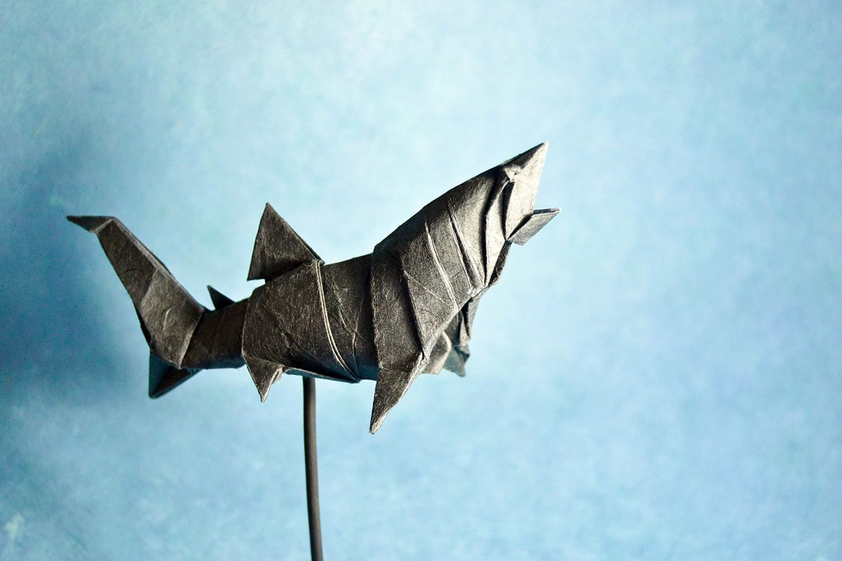 John Montroll's Shark Folded by Gonzalo