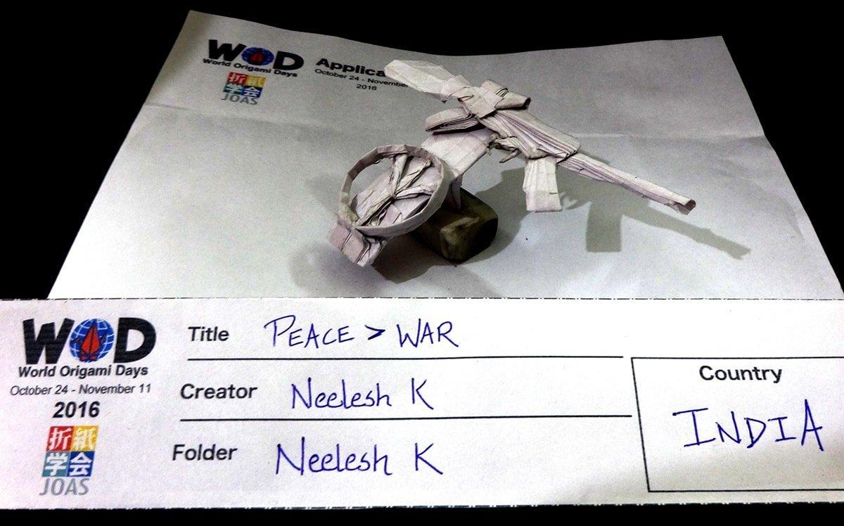 Peace > War Folded by Neelesh Kumar