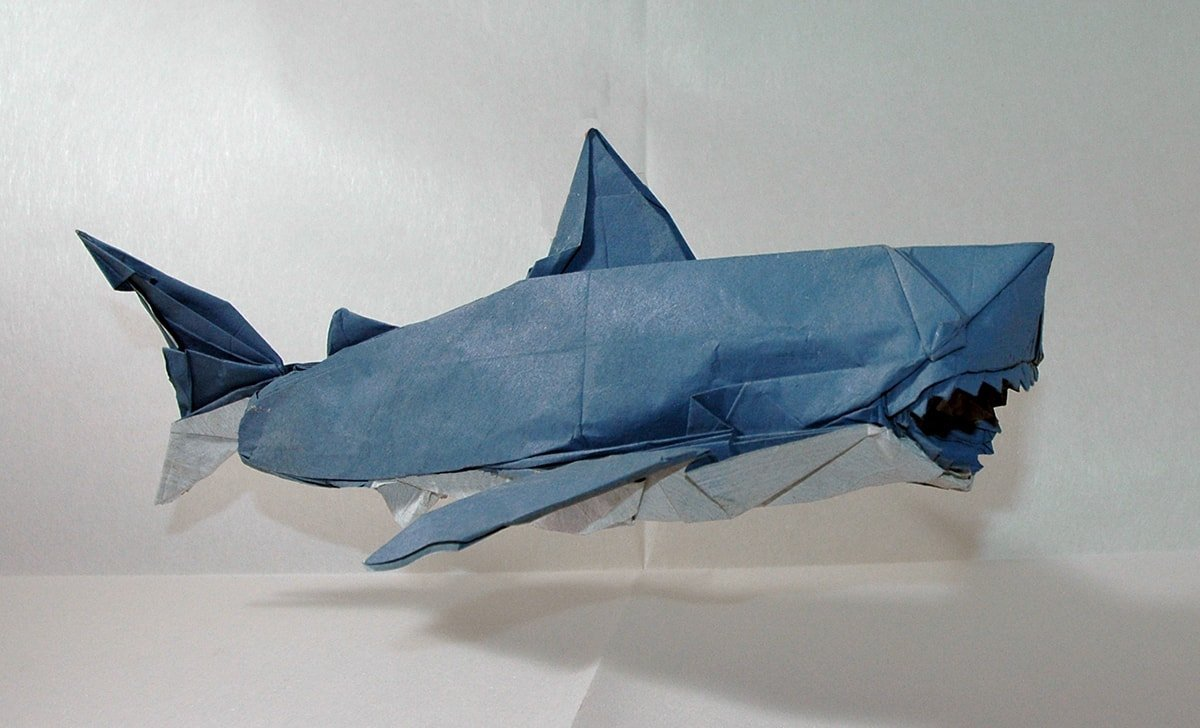 Great White Shark Folded by Philippe Landrein