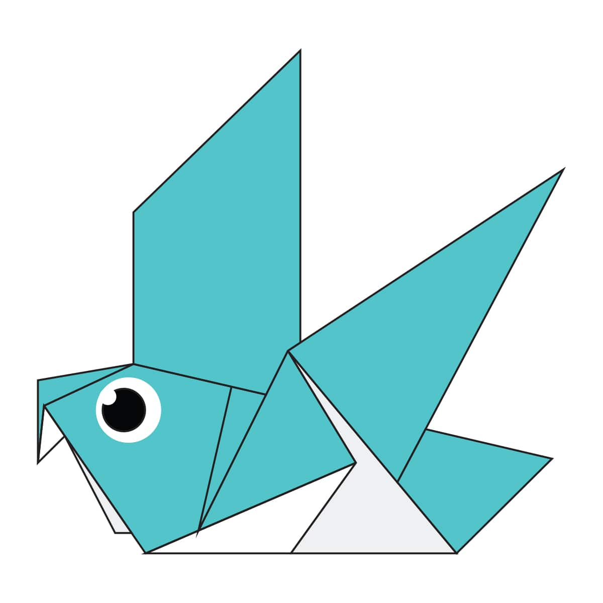 The Completed Origami Pigeon