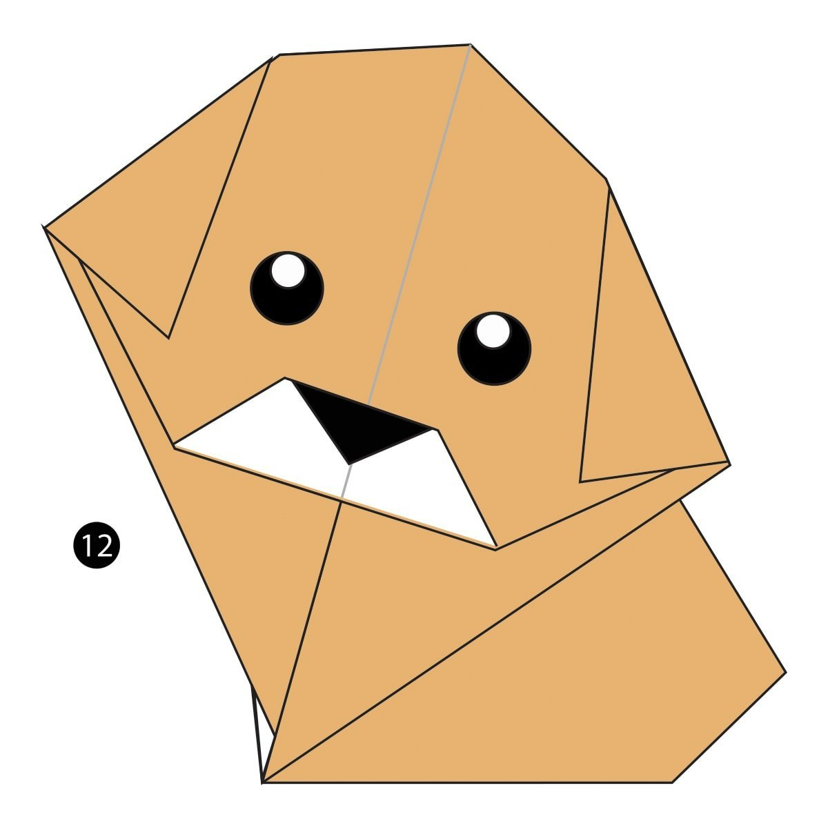 How to Make a Paper Dog | 1200x1200