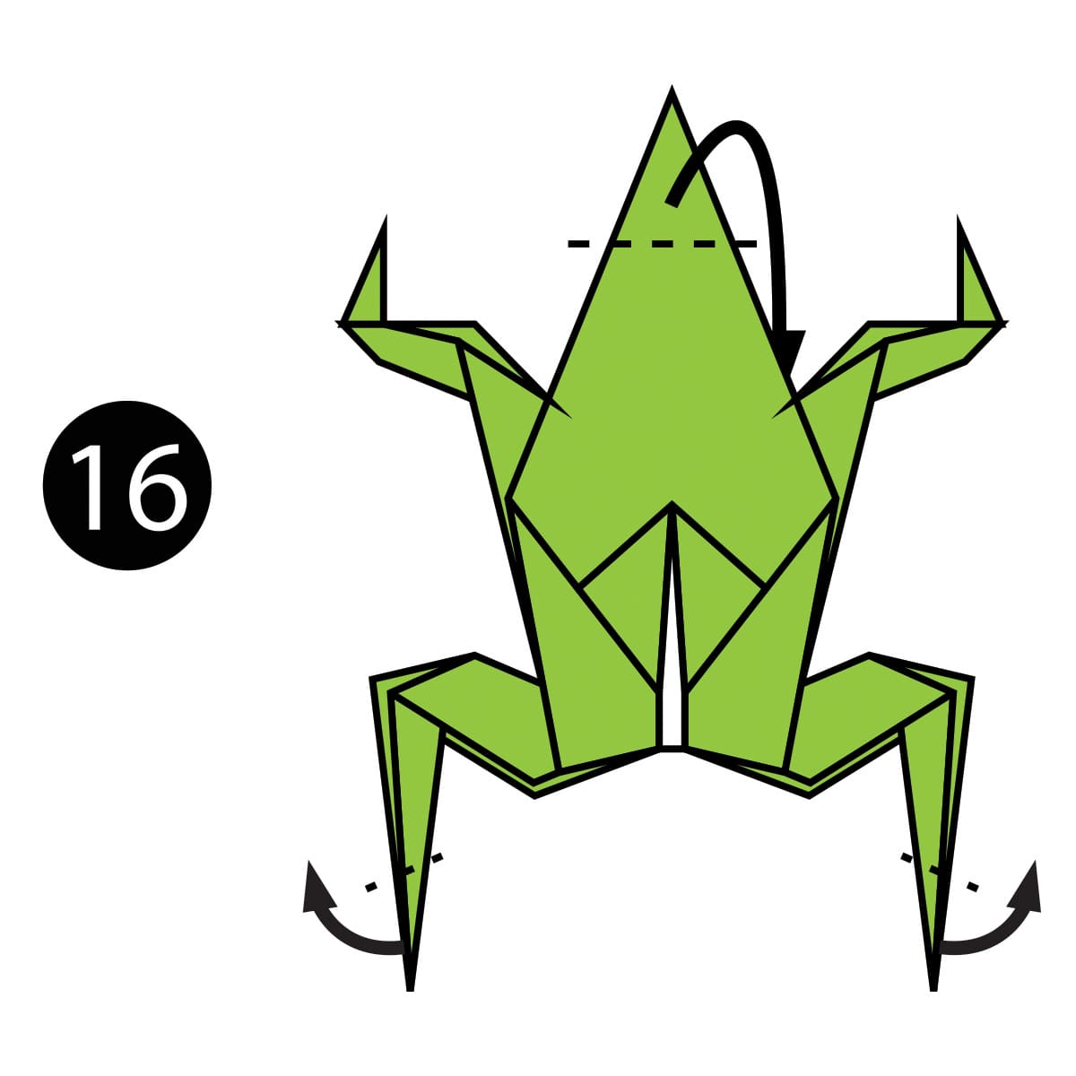 Traditional Frog Step 16