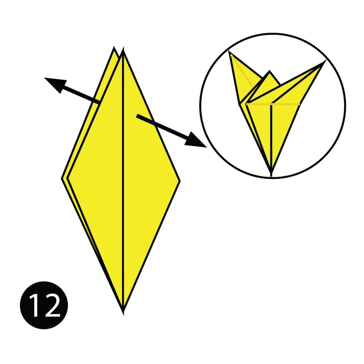 How To Fold A Simple Origami Giraffe Diagram Step 12