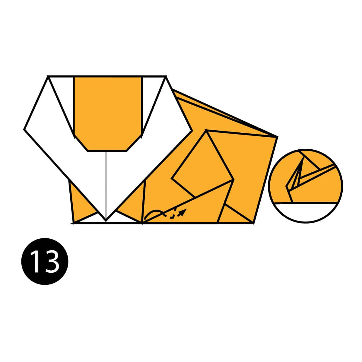 How to Make an Easy Origami Lion