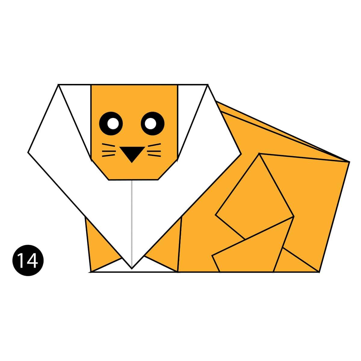 Origami Lion Easy Tutorial - YouTube | 1200x1200